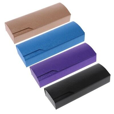 Portable Imitation Wood Grain Hard Sunglass Box Glasses Case Square Fold Box