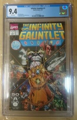 Infinity Gauntlet # 1 -  Marvel July 1991 Jim Starlin George Perez CGC 9.4