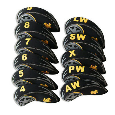 Craftsman 11pcs Neoprene Golf Iron Wedge Headcovers Covers for Taylormade Ping