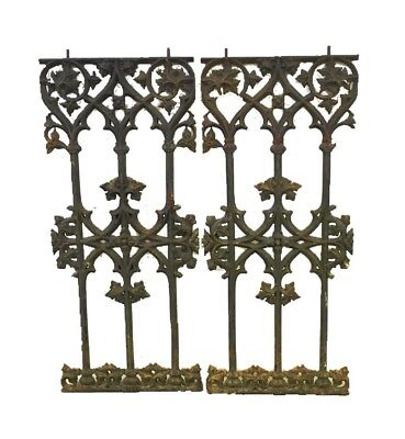 Antique French Louis XVl  Salvage ~ late 18th Cent.(1700s) Cast Iron Railings