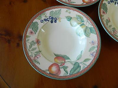 6 Johnson Brothers 'autumn Grove' Rimmed Soup Bowls