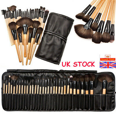 32Pcs/Set Professional Kabuki Make Up Brush Set + Cosmetic Brushes Case UK