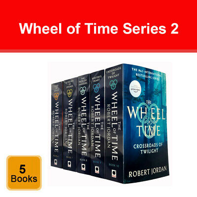 Wheel of Time Series 2 Robert Jordan Collection 5 Books  Set pack NEW