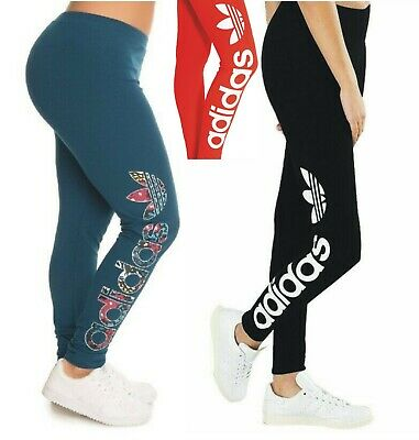 Adidas Originals Linear Womens Iconic Gym All Sports Leggings Black 8 10 12 14