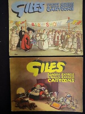 Lot of 2 Vintage Giles Annuals 1951/52 & 1950/51 Fifth & Sixth Series