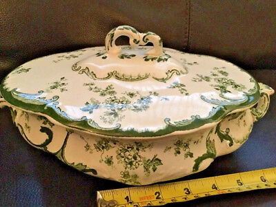 Antique Ridgways 1897 Chiswick Green Tureen Excellent Condition