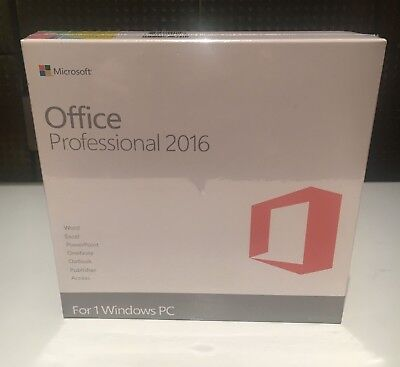 Microsoft Office 2016 Professional Windows With Key Card And DVD for 1 PC