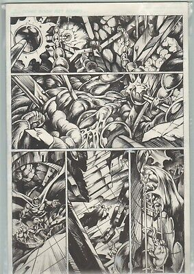 Mike Gustovich Orig Comic Art Signed unpublished page Lightmare (644)