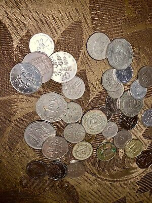 32-34 Coins From Jamaica Old Collectible Coins Caribbean Island Jamaican Dollar