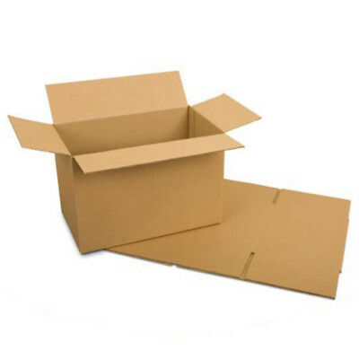 """Cardboard Postage Boxes Single Wall Postal Mailing Small Parcel Box 8"""" x 6"""" x 4"""""""