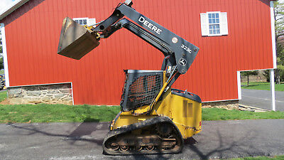 2012 John Deere 323D Compact Track Skid Steer Loader Cab Heat A/c 2 Speed