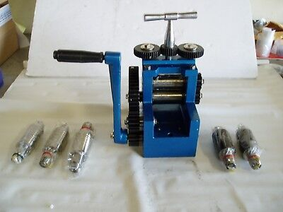 Mini Rolling Mill For Metal Sheet And Wire With 7 Flat And Pattern Rollers