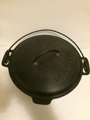 OLD CAST IRON GRISWOLD (No. 8) CAST IRON TITE-TOP ROUND DUTCH OVEN W/ LID #2551A