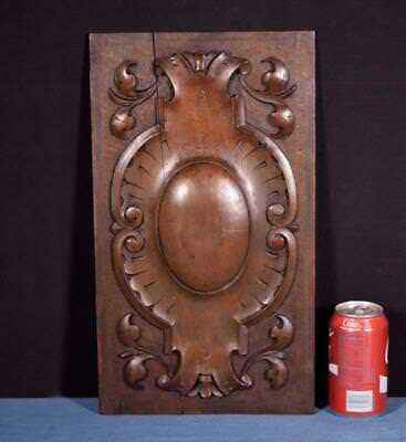 *French Antique Decorative Panel/Door in Solid Walnut Wood Salvage