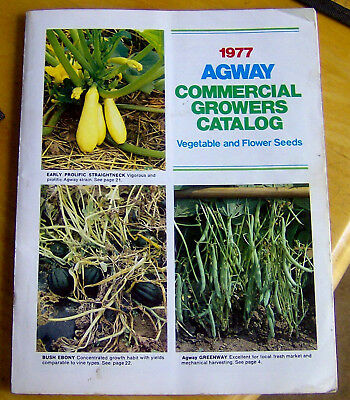 RARE vintage 1977 Agway COMMERCIAL GROWERS CATALOG farmers SEEDS agriculture OLD