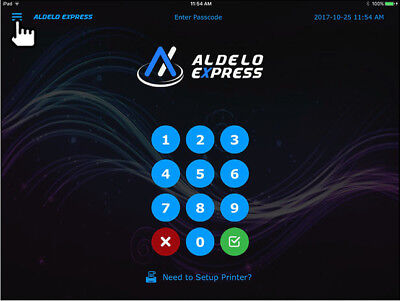 Aldelo Express iPad POS Cloud-Based Solution 24/7 Support Single Station License