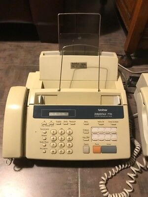 IntelliFAX-770 Brother IntelliFax 770 Plain Paper Fax Machine Phone Copier USED