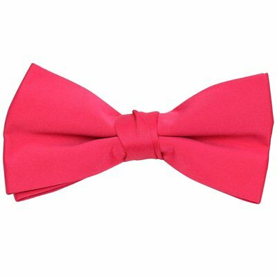 Formal Solid Polyester Boy's Bow Tie-Fuchsia