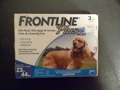 New Frontline Plus For Dogs (23-44 Lbs) 3 Doses 3 Month Supply