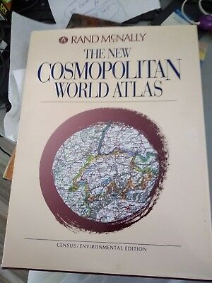 "Vintage 1992 Rand McNally Cosmopolitan World Atlas Maps Book Large 15"" x 11.5"""