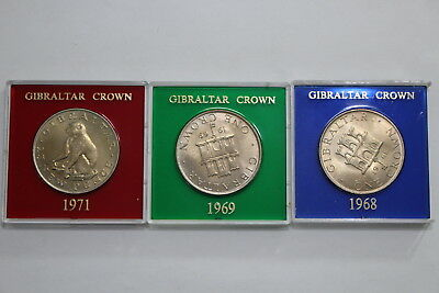Gibraltar - 3 Cased Crowns A98 Bxqueen-101