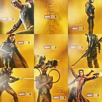 Marvel Posters MCU Studios 10th Years Anniversary Gold Posters Collection 2