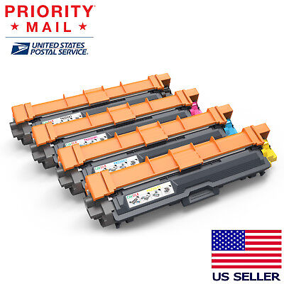 4PK Toner Cartridges TN221& TN225 for Brother HL3140CW MFC9130CW, MFC-9330CDW