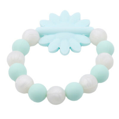 Baby Teether Bracelets Silicone Beads Chewable Teething Molar Toys Safety LH