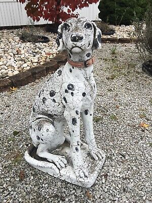 Vintage Old Stoneware Fire Dog Some Wear But Good Condition
