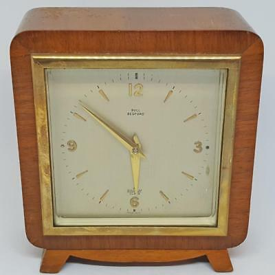 Antique Elliott Walnut Mantel Clock