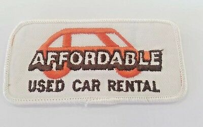 Affordable Used Car Rental Vintage retro advertising employee patch embroidered