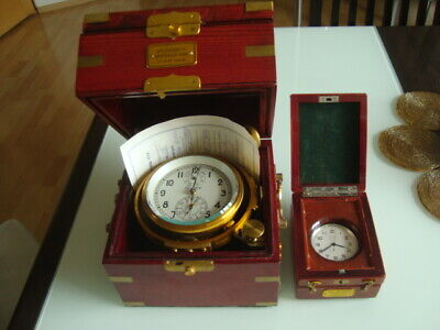 Very rare Russian marine chronometer +deck watch POLET