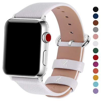For Apple Watch iWatch Series 4 3 2 1,Genuine Leather Band 38mm 42mm Wrist Strap