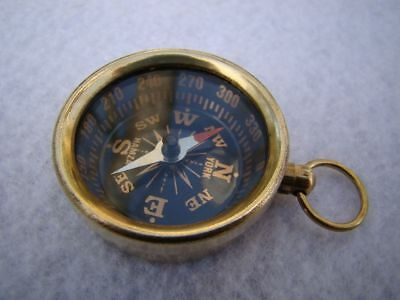 Brass Pocket Compass - Old Vintage Antique Compass - Nautical Pocket Compass