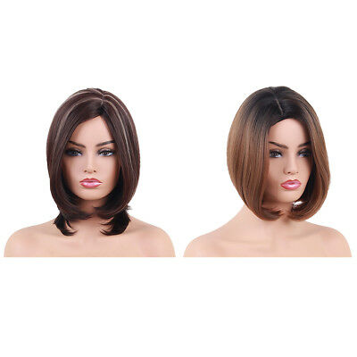 100% Women Natural Hair Wig Long Straight Curly Cosplay Synthetic Full Wigs