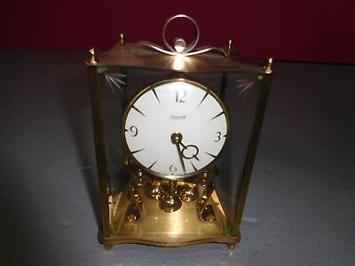 Vintage Kieninger & Obergfell KUNDO Mantle Clock Pendulum Wind-Up w/Key WGermany