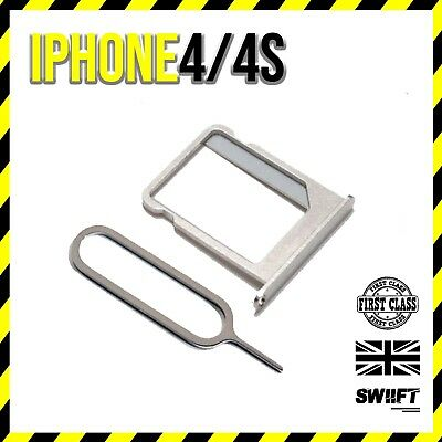 NEW iPhone 4/4s Replacement Metal SIM Card Tray / Holder Micro Sim