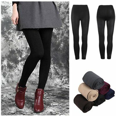 Women Winter Thick Warm Fleece Lined Thermal Stretchy Slim Skinny Leggings YL