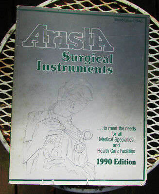Set of old Arista medical surgical supplies instruments catalogs 1959, 1990