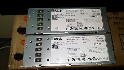 DELL POWEREDGE R710 T610 570W Power Supply A570P-00 0MMYXYH Lot of 2