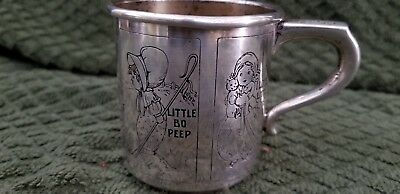 Sterling Silver Nursery Rhyme Childs Cups McChesney Co   (1921-1931) 3 Oz