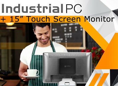 "3nStar Industrial POS 4GB RAM 120GB SSD HD Restaurant Win 10 15"" Touchscreen"