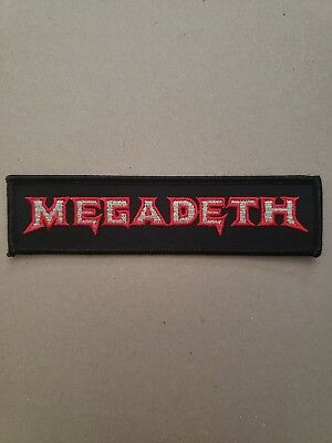 """MEGADETH-Heavy Metal. Embroidered Iron Patch - 5.5"""" x 1.5""""-  High Quality"""