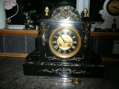 antique clock marble slate