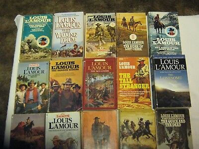 Louis L'amour Western Paperback Books Lot Of 61 Free Shipping