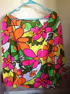vintage flower power 60's blouse FABRIC