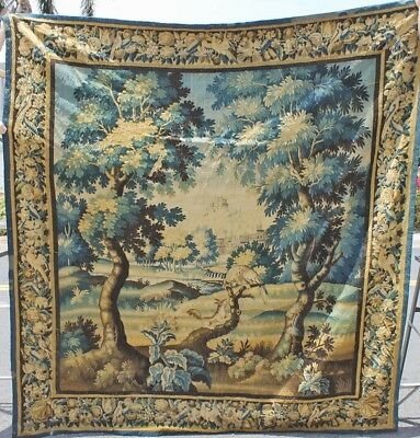 One Of A Kind Antique 18th Century French Aubusson Tapestry — 8.5ft X 8.6ft