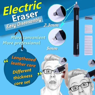 Electric Eraser School Students Lazy Pen Erasser for Sketch Writing Drawing PY
