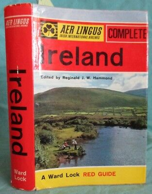 1966 Aer Lingus Airlines The Complete Ireland; Red Guide, Travel