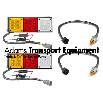 280ARWM + Ford Ranger/ Madza BT50 Patch Leads Plug & Play LED 4WD Tail Light Kit
